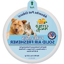 Citrus Magic Pet Odor Absorbing Solid Air Freshener Pure Lin