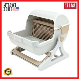 Pet Semi Automatic Cleaning Cat Litter Box Quick Luxury Toil