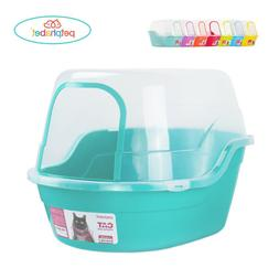 Petphabet Litter Box with Lid - Jumbo Hooded Kitty Pan - Hol