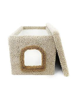 New Cat Condos Premier Litter Box Enclosure, Beige