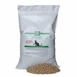 Small Pet Select Premium Pine Pelleted Cat Litter 25lb, Brow