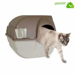 Premium Roll 'n Clean Litter Box Cats Regular Omega Paw Litt