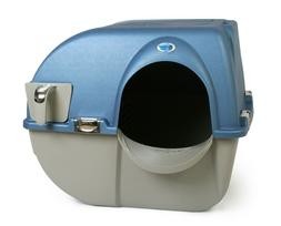 OMEGA PAW Premium Roll 'n Clean Self Cleaning Cat Litter Box
