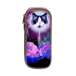 Psychedelic Magick Cats in Space Pen Bag Pencil Case Student