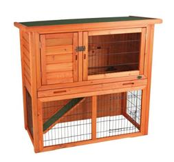 Rabbit Hutch with Sloped Roof