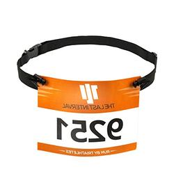 TLI Race Number Belt for Running, Cycling, and Triathlon - L