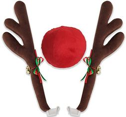 Reindeer Antlers for Cars Costume Rudolph Holiday Ornament D