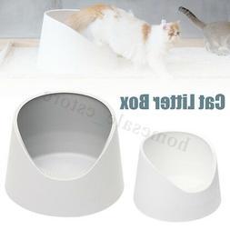 Resin Cat Toilet Kit Pet Litter Box Tray House Detachable Pu