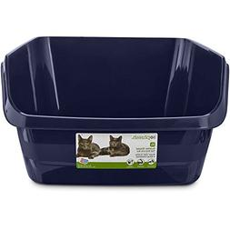 "So Phresh Scatter Shield High-Back Litter Box in Navy, 24"" L"