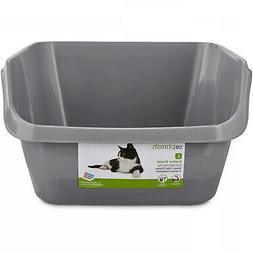 So Phresh Scatter Shield High-Back Litter Box In Gray, 24 L