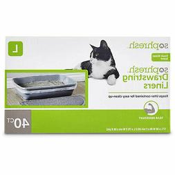 scented drawstring cat litter box liners