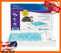 scoopfree premium blue crystal cat litter tray