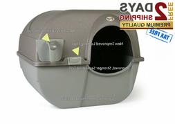 Self Cleaning Cat Hooded Litter Box Extra Large Pan Enclosed