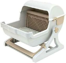 Self Cleaning Cat Litter Box Premium Automatic Pan Lid Cover