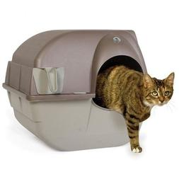 Self Cleaning Cat Litter Box Roll Kitty Pewter Scoop Automat