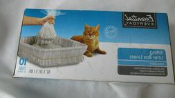 Sifting Cat Box Liners Extra Giant Size Box of 10 + 1 Transf