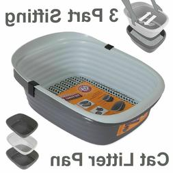 SIFTING CAT LITTER PAN Large 3 Part Pet Cleaning System Kitt