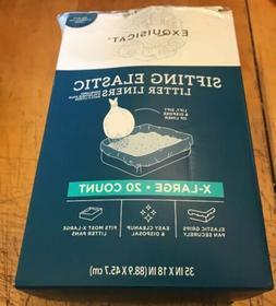 "Exquisicat Sifting Elastic Litter Box Liners XL 35""x 18"""