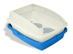 CP5 Sifting Cat Pan/Litter Box with Frame, Blue/Gray