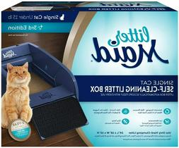 NEW LitterMaid Single Cat Self-Cleaning Litter Box, Blue   