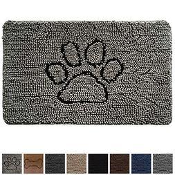 Gorilla Grip Original Indoor Durable Chenille Doormat,  Abso
