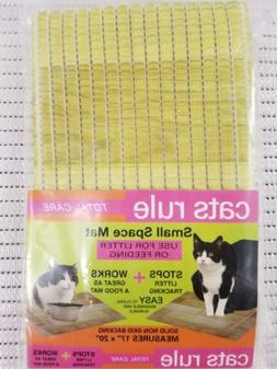Cats Rule Small Space Litter Mat Use For Litter Or Feeding.1