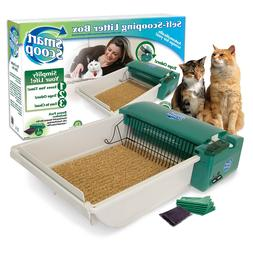 "SmartScoop Basic Green Self-Scooping Cat Litter Box, 25.5"" L"