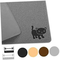 "Smiling Paws Pets Cat Litter Mat, BPA Free, XL Size 35""x23.5"