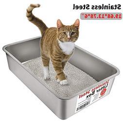 Yangbaga Stainless Steel Litter Box for Cat and Rabbit, Odor