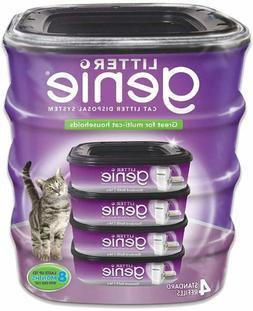 Litter Genie Standard Cat Litter Disposal System Refills - 4