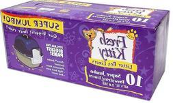 Fresh Kitty 10 Count Super Jumbo Super-Thick Litter Box Line