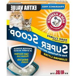 ARM & HAMMER Super Scoop Clumping Litter, Fragrance Free 40l