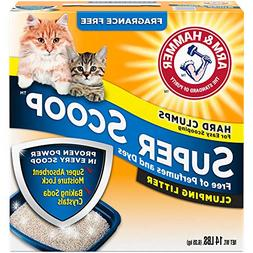 Arm & Hammer Super Scoop Litter, Fragrance Free,14 Lbs