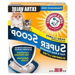 Arm & Hammer Super Scoop Clumping Litter, Unscented, 26.3 -P