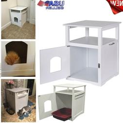 Sweet Barks Designer Cat Washroom Storage Bench Cat Litter B
