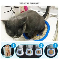Toilet Training Kit Pet Kitten Seat Plastic Litter Potty Tra