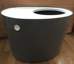IRIS Top Entry Cat Kitty Litter Box Dark Gray/White Large Ca