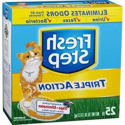 Fresh Step Triple Action, Clumping Cat Litter, Scented, 25 P