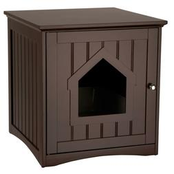 """Trixie Wood Cat Home And Litter Box, Espresso, 19.25"""" X 20"""""""