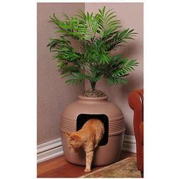 Tuscany Hidden Litter Cat Box with Phoenix Palm and Custom L