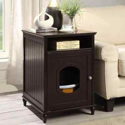 Unipaws Cat Litter Box Enclosure, Litter Loo Cat House End T