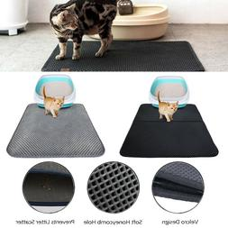 US Double Layer Dog Cat Litter Box Mat Trapper Foldable Pad