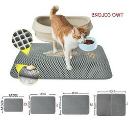 US Double-Layer Pet Cat Waterproof Cat Litter Mat Trapper Fo