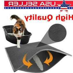 US Double-Layer Pet Cat Waterproof Cat Litter Mat Trapper Fo