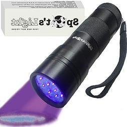 Spot's Light UV Blacklight Flashlight, Black 12 LED, Ultravi