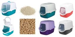 TRIXIE VICO HOODED DOME CAT KITTEN PET LITTER TRAY BOX WITH