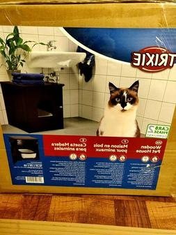 TRIXIE Wooden Cat Home and Litter Box Enclosure
